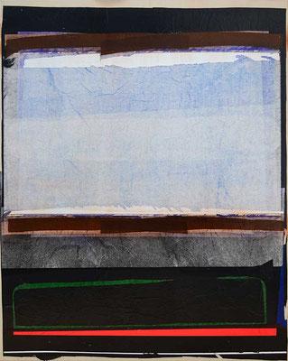 0-EINS-19 / mixed media, paper, canvas / 100 x 80 cm