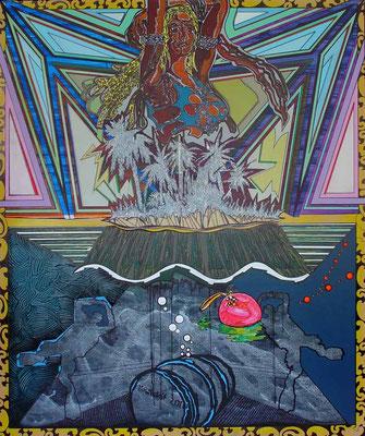 SAYONARA KOORIME / mixed media, canvas / 180 x 150 cm