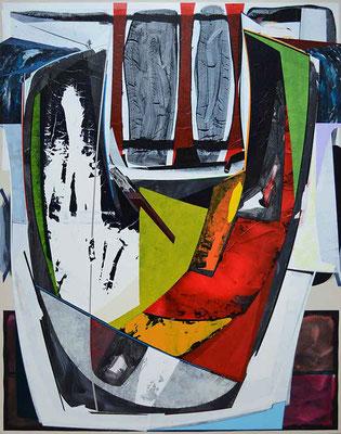 0-EINS-21 / mixed media, paper, canvas / 150 x 120 cm