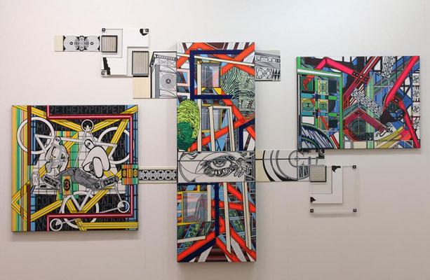 EX LIBRIS / mixed media, canvas / 150 x 265 cm
