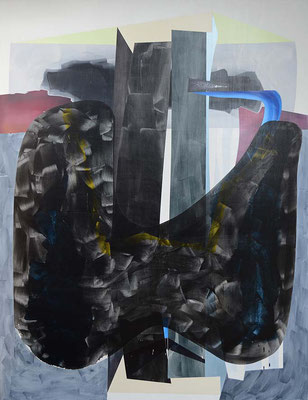 17null16 / mixed media, canvas / 219 x 169 cm