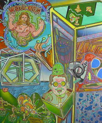 DERMATOZOENWAHN / mixed media, canvas / 180 x 150 cm
