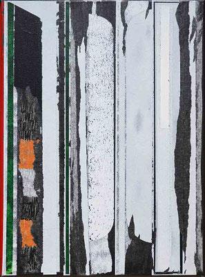 0-SIEBEN-21 / mixed media, paper, canvas / 40 x 30 cm