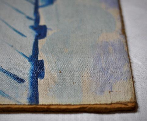 Während der Oberflächenreinigung. Saarlandmuseum – Moderne Galerie, Stiftung Saarländischer Kulturbesitz