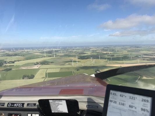 Gegenanflug auf Heide-Büsum