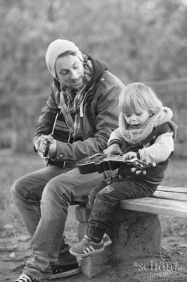 Fotoshooting Familie Vater Sohn Natur