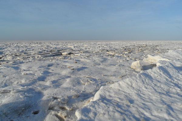 Die zugefrorene Nordsee