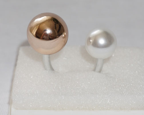 Rosegold mit Perle