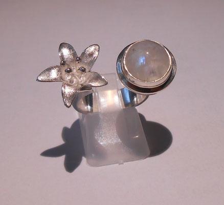 Mondstein & 925 Silber