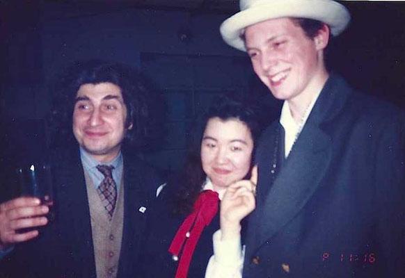名古屋の ROBOT のパーティーかな?左はニューヨーカーのデザイナー、ジーンさん。右はマルコムの息子のジョセフ( aka ジョー)。
