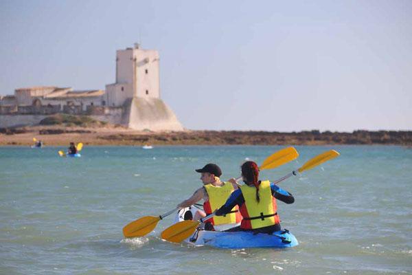 alquiler de kayak en chiclana de la frontera