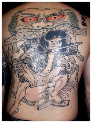 水滸伝,張順の水門破り、刺青,和彫り