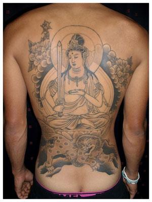 文殊菩薩の刺青、和彫り
