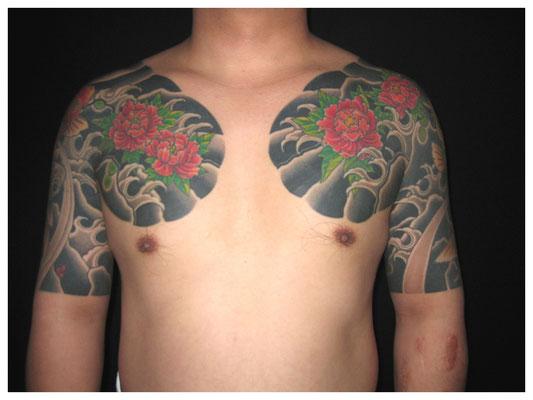 牡丹の刺青,和彫り