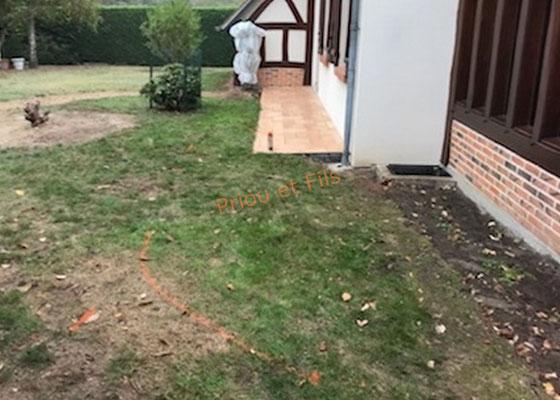 terrasse avant le début des travaux