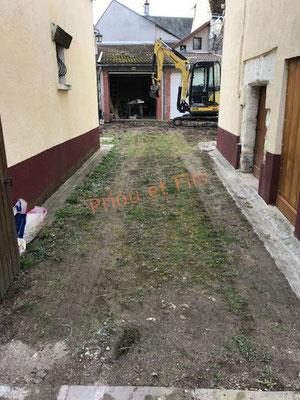 terrassement entrée, allée, cour, Priou et Fils, 41700 Contres, Blois, Loir et Cher