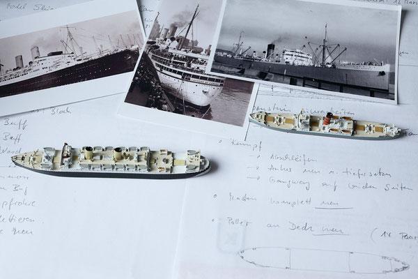 Port Dunedin zusammen mit der ebenfalls im Umbau begriffenen Duchess of Bedford