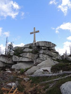 Gipfelkreuz am Plöckenstein
