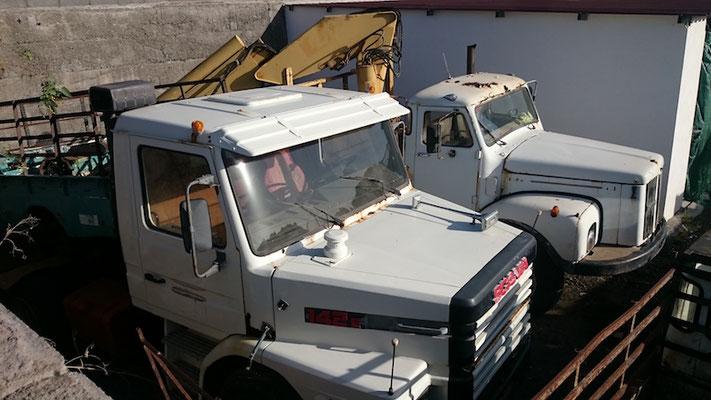 vorne: SCANIA Serie 2, hinten Scania-Vabis L55, 1959 - 1968