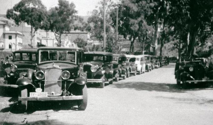 Historische Foto, Taxiflotte Santa Crúz de La Palma
