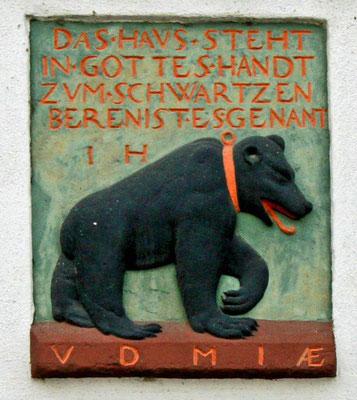 Relief am Gasthaus Zum Schwarzen Bären, Weimar, 17. Jahrhundert