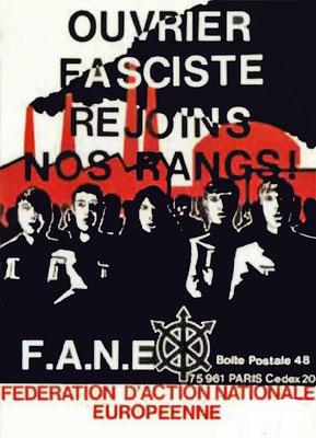 Aufkleber der FANE, 1970er Jahre