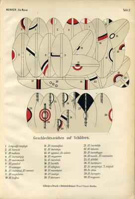 Geschlechterzeichen der Massai zu Beginn des 20. Jahrhunderts