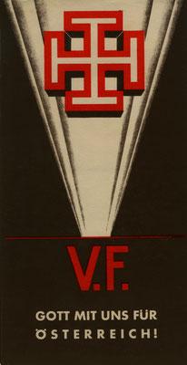 Plakat der Vaterländischen Front