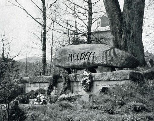 Ehemaliges Gefallenendenkmal in Schierke am Harz
