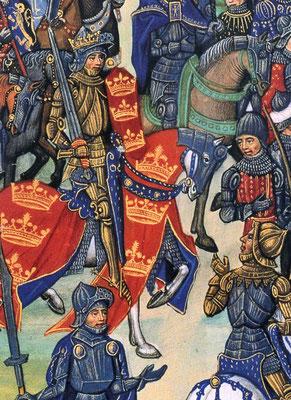 Darstellung von König Artus aus Jean Wauquelins Chronik des Hennegau, erste Hälfte 15. Jahrhundert