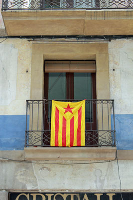 Estelada mit gelbem Feld, Barcelona, 2006