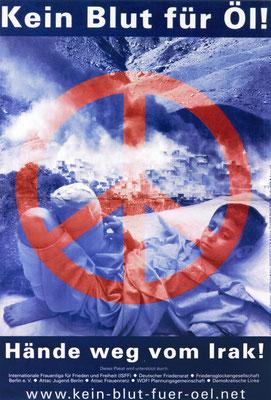 Plakat der deutschen Friedensbewegung, 1991