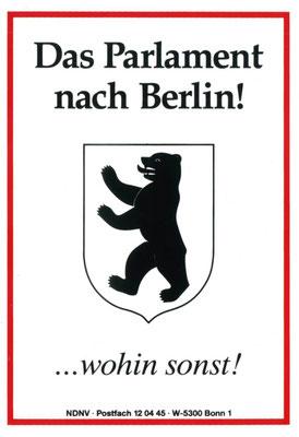 Propagandakarte des Neuen Deutschen Nationalavereins für Berlin als Hauptstadt, 1991
