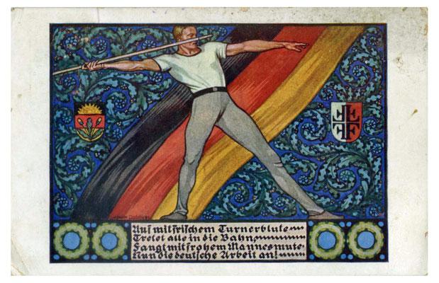Karte der großdeutschen Bewegung Österreichs aus der Zwischenkriegszeit, 1920er Jahre