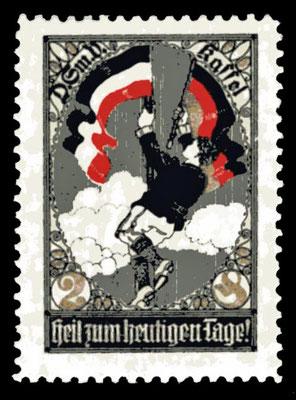 Kampfschatzmarke des Deutsch-Sozialen Vereins, Kassel (?), um 1910
