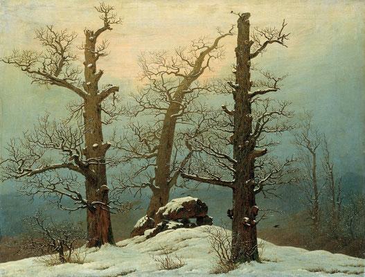 Caspar David Friedrich: Hünengrab im Schnee, 1819