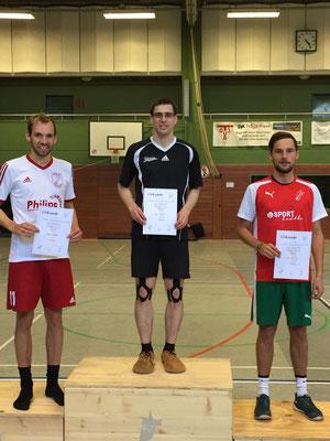 Siegerehrung für Christopher Zentarra, Philipp Münzner und Noah Wilke