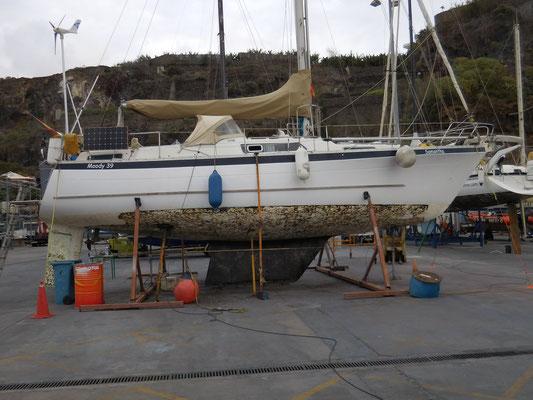 Segelboot an Land!
