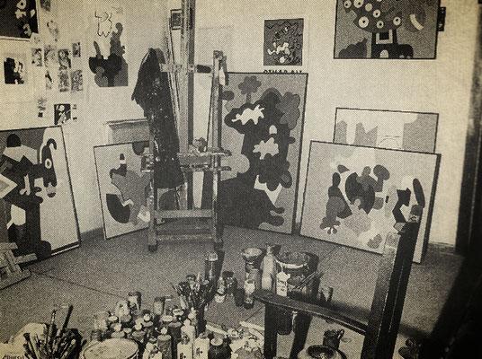 Atelierecke in der Görresstraße. 1964