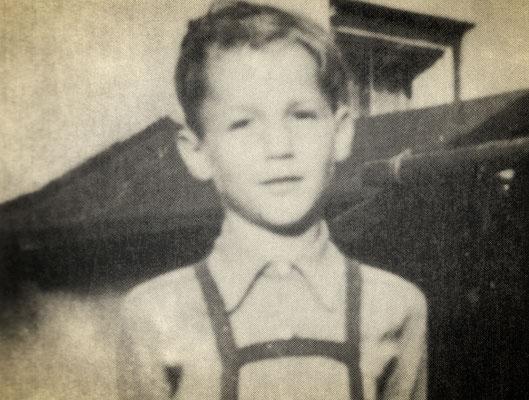 Otmar Alt als Schulkind 1953