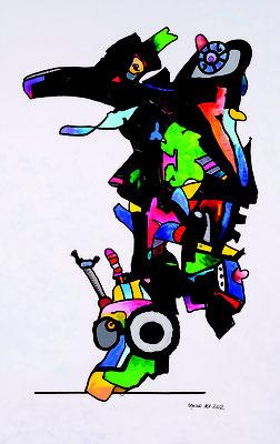 Ungeheuerlich, Acryl auf Leinwand 190 x 120, 2012