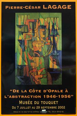 """Affiche Pierre-César Lagage, de la Côte d'Opale à l'abstraction, 1946-1956"""""""