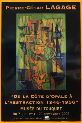 """Affiche """"Pierre-César Lagage, de la Côte d'Opale à l'abstraction, 1946-1956"""""""