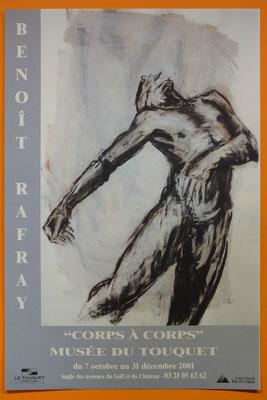 """Affiche """"Benoît Rafray, corps à corps"""""""