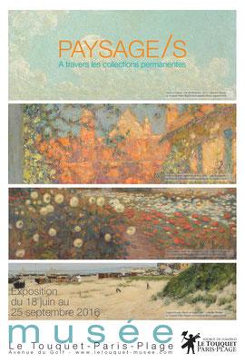"""Affiche """"Paysage/s à travers les collections permanentes"""""""