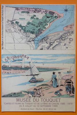 """Affiche """"Cartes et plans du Touquet"""""""