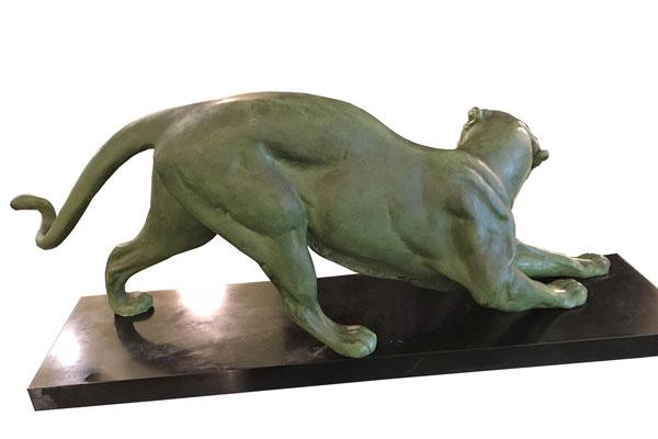 Art Deco Panther signiert, Artdeco Panther signiert, Plagnet, Sculteur, Art Deco Sculptur