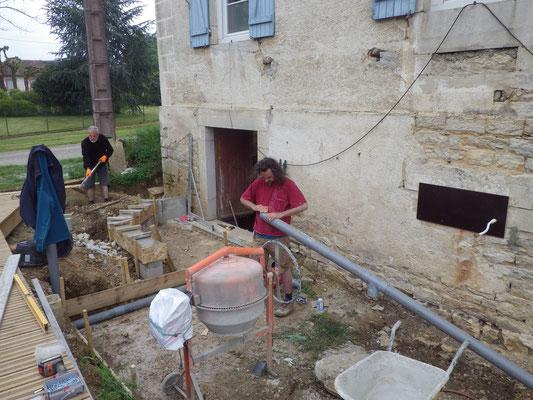 préparation des fondatiosn de l'appenti fermentation - mai 2018