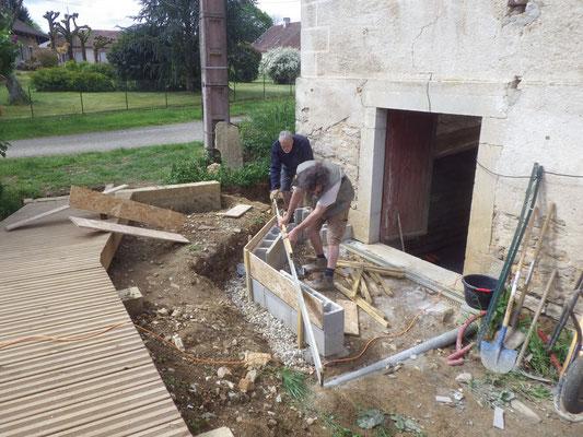 préparation de l'entrée du lombard bar - début mai 2018