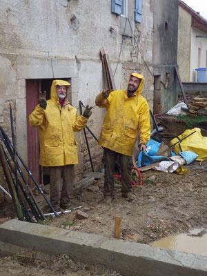 avec mon père, en cirés bretons : increvables ! - mi décembre 2017